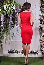"""Деловое летнее платье-футляр """"Дара"""" с вырезом декольте (3 цвета), фото 3"""