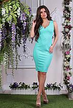 """Деловое летнее платье-футляр """"Дара"""" с вырезом декольте (3 цвета), фото 2"""