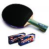 Ракетка для настольного тенниса DHS 5002 + 20 мячей (40+ 2 star)