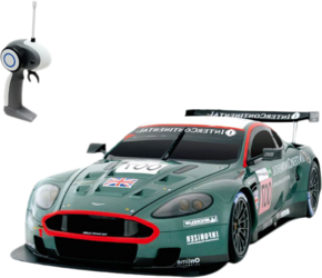 Автомобиль радиоуправляемый - ASTON MARTIN - DB9 Racing (зеленый, 1:16)