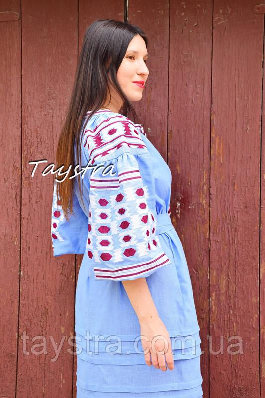 Вышитое платье бохо вышиванка лен этно стиль бохо шик 5d93adb62d32d