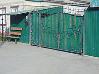Ворота з профнастилу В-30, фото 1