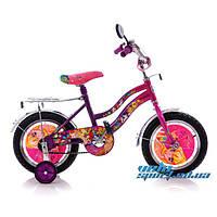 """Детский двухколесный велосипед 14"""" Mustang  Винкс с корзинкой WINX"""