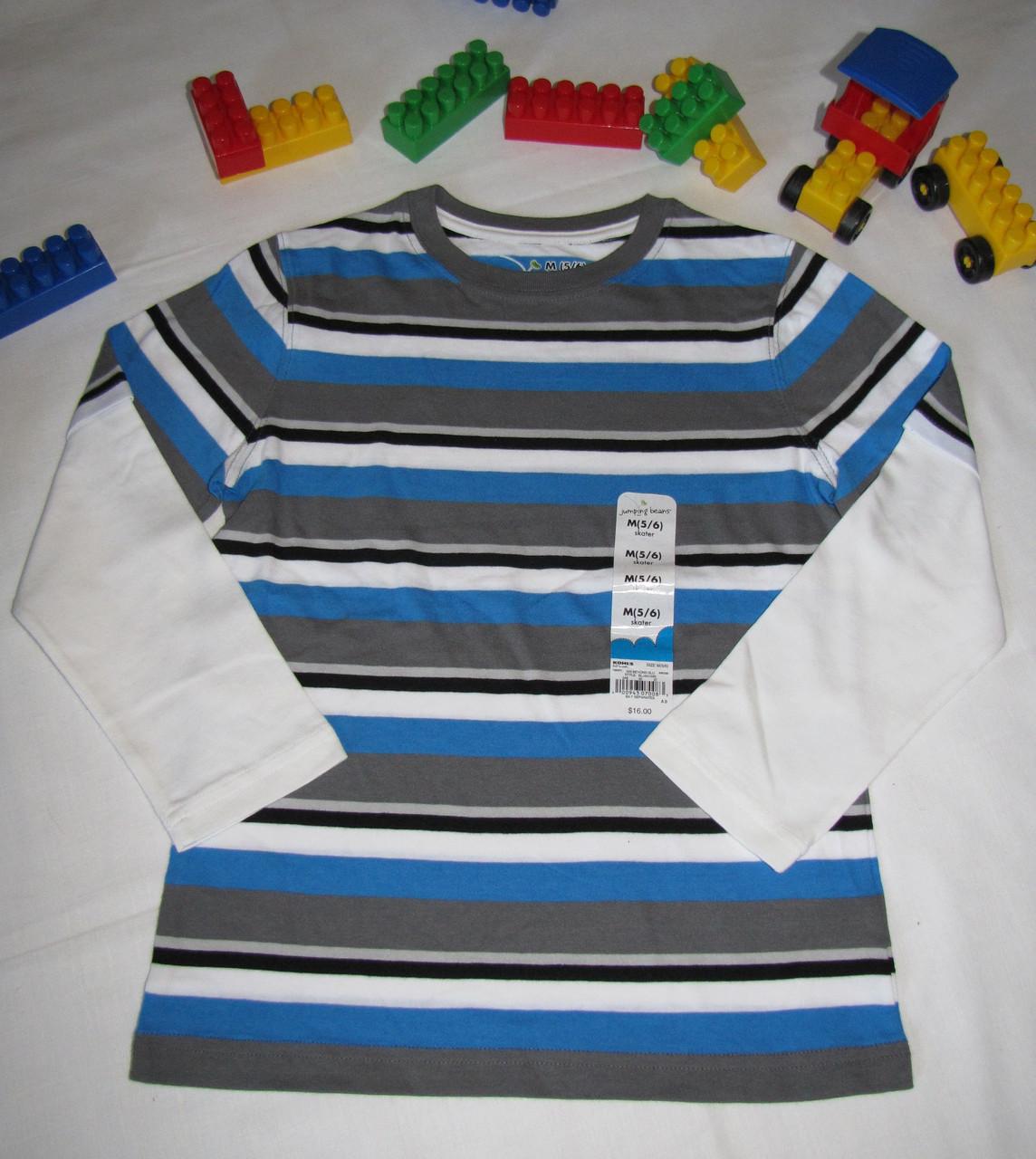 Футболка с длинными рукавами Jumping Beans оригинал рост 110 см синяя+серая 07044