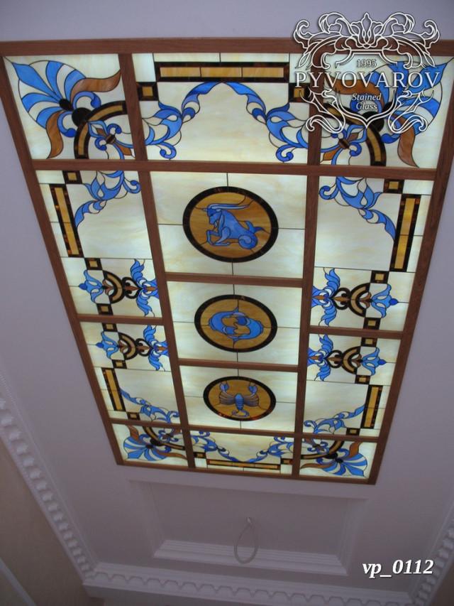 Витражный потолок знаки зодиака