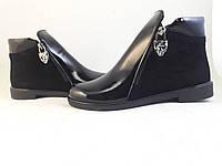 Ботинки с декоративной молнией