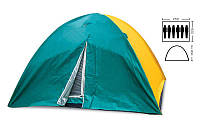 Палатка туристическая шестиместная SY-021 с тентом: 2,2х2,5х1,5м