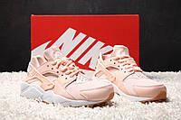 Кроссовки Nike Air Huarache Pink/White. Живое фото. (Реплика ААА+)