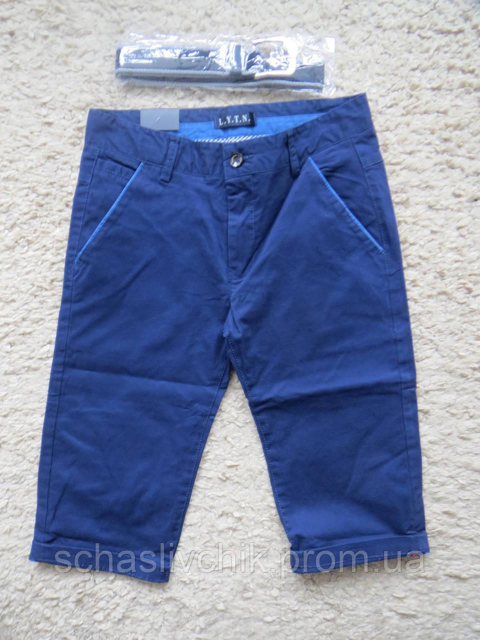Детские джинсовые бриджи, шорты для мальчиков и девочек, размер 8-16, фирма LYNT