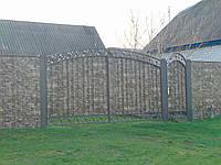 Ворота з профнастилу В-58
