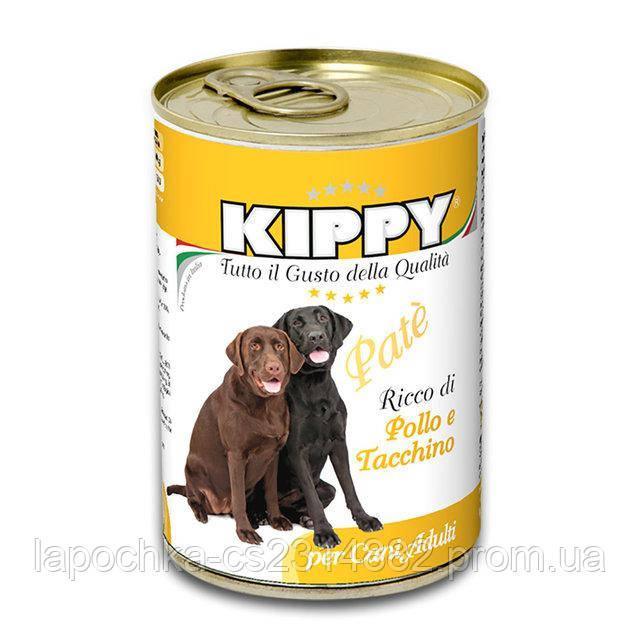 Паштет Kippy Dog для собак с курицей и индейкой,400 г