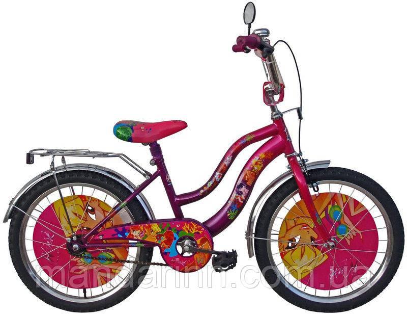 Детский двухколесный велосипед с корзинкой 20 дюймов WINX
