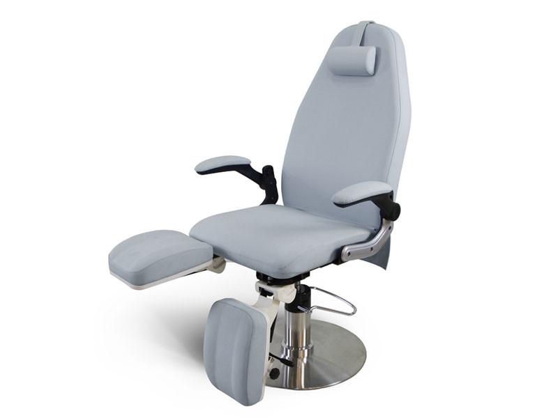 Педикюрное кресло с гидравлической регулировкой высоты, серое