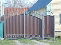 Ворота з профнастила В-59, фото 1