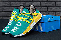 Кроссовки Adidas NMD Pharrell Williams x  'Human Race' Mint/Yellow/white. B Живое фото (Реплика ААА+)