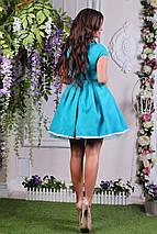 """Нарядное летне мини-платье """"JUNO"""" с кружевом и пышной юбкой (4 цвета), фото 3"""