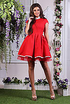 """Нарядное летне мини-платье """"JUNO"""" с кружевом и пышной юбкой (4 цвета), фото 2"""