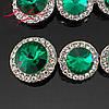 Комплект браслет и серьги изумрудный .(видеообзор), фото 3