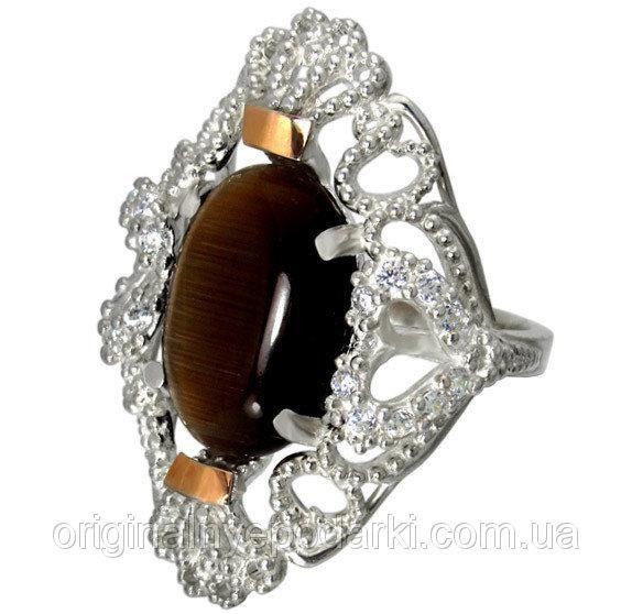 кольцо Джамала из серебра 925 пробы с камнем