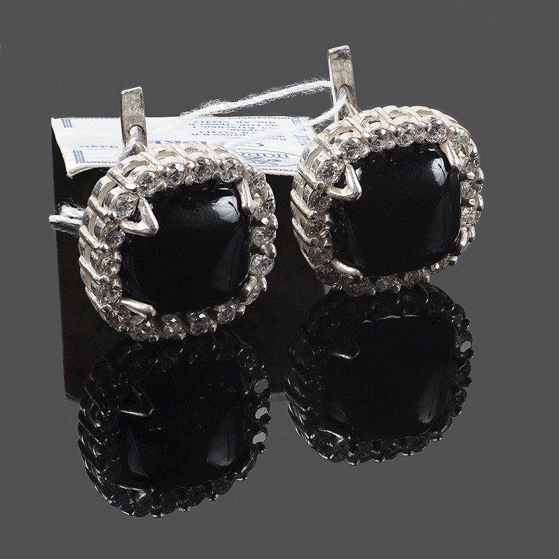 Крупные серебряные серьги Эсферо