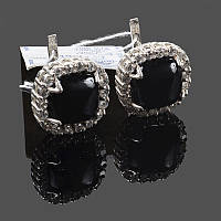 Крупные серебряные серьги Эсферо, фото 1