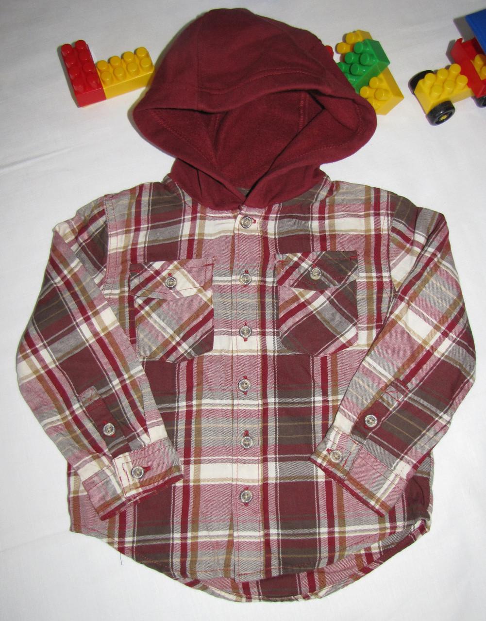 Рубашка с капюшоном Wonder Kids оригинал рост 98 см красная 07048