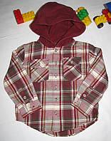 Рубашка с капюшоном Wonder Kids оригинал рост 98 см красная 07048, фото 1
