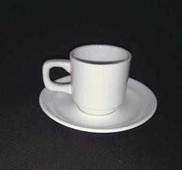 Чашка+блюдце 90мл (фарфор)