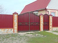 Ворота з профнастилу В-65