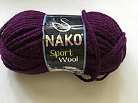 Пряжа Nako Sport Wool полушерсть, Пряжа для вязания, Пряжа спорт вул турция, нитки для вязания