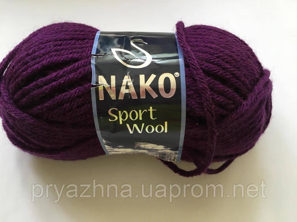 пряжа Nako Sport Wool полушерсть пряжа для вязания пряжа спорт вул