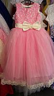 Детское нарядное платье Герда. Длинное. 6 лет. Розовый, фото 1