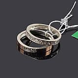 Серебряный набор с золотом - 16 р кольца, фото 2