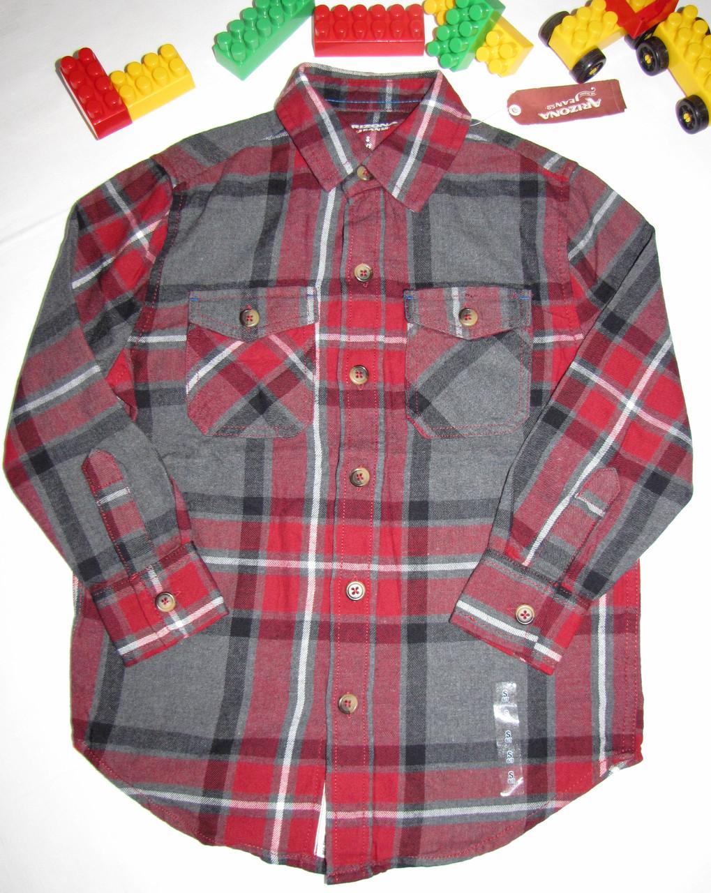 Рубашка  Arizona Jeans оригинал рост 116 см красная+серая 07051