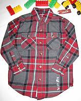 Рубашка  Arizona Jeans оригинал рост 116 см красная+серая 07051, фото 1