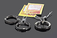 Серебряный набор Тесьма: серьги и кольцо, фото 1