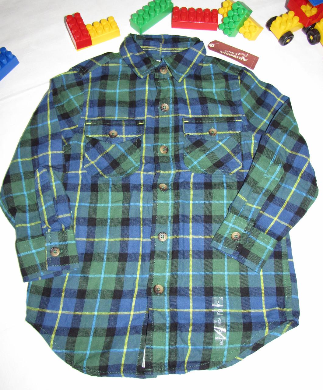 Рубашка  Arizona Jeans оригинал рост 116 см синяя+зеленая 07052