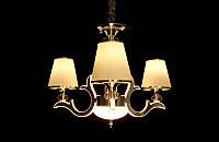 Люстра классическая с ЛЕД подсветкой веток на 3 ламп  8329-3, фото 1