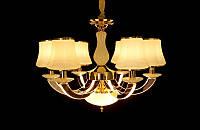 Люстра классическая с светодиодной подсветкой  рожков серебро/золото 8345-6, фото 1