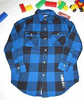 Рубашка теплая Arizona Jeans оригинал рост 116 см синяя+черная 07053, фото 1