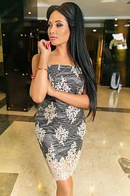 К637 Вечернее платье бандо (размеры 42-48)