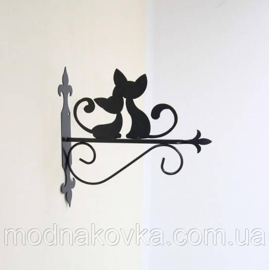 Кронштейн для подвесных цветов Коты