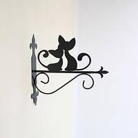 Кронштейн для подвесных цветов Коты, фото 1