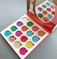 Глитер Huda Beauty Allure 16 Colors of Eyeshadow Glitter Pallete (реплика)