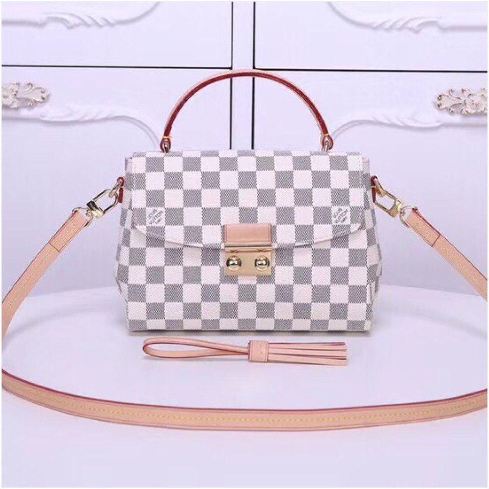 4620b1422e7f Сумка Louis Vuitton Луи Витон Croisette канва Damier Azur, кожаная реплика  - Annashop.com