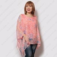 3fa4cff6680 Итальянская блузка большого размера из шифона