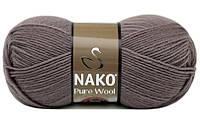Шерстяные нитки 100 % меринос, пряжа супер вош, пряжа для вязания Nako Pure Wool, нитки для вязания нако