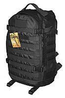 Тактический, штурмовой крепкий рюкзак 32 литров Черный. Армия, туризм, рыбалка, спорт.