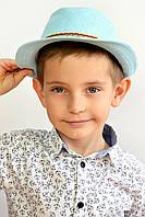 Шляпа пляжная детская - Муреа голубая