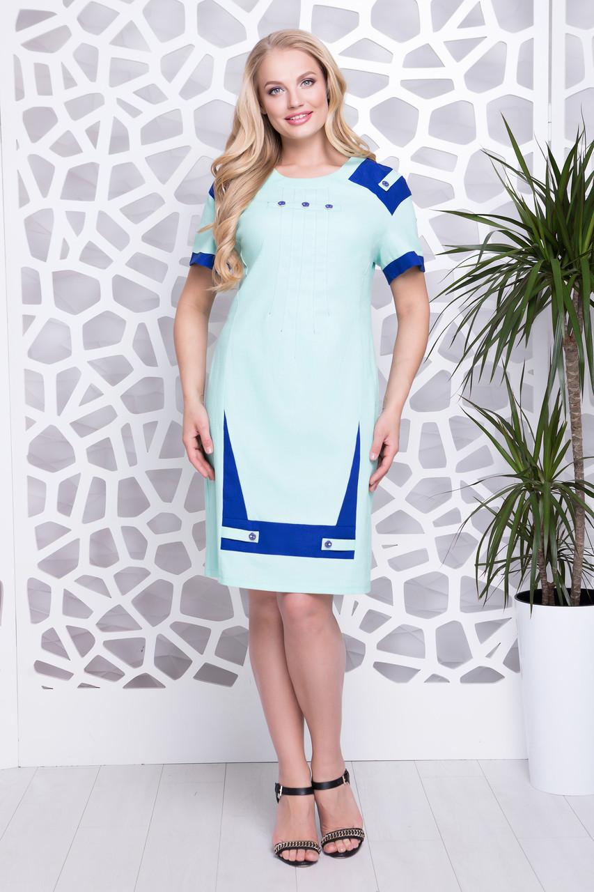 Сукня Фабіана льон м'ята р 52-58